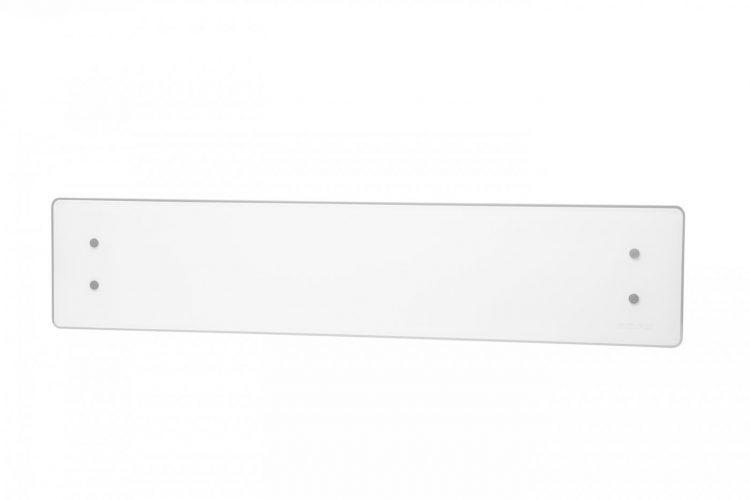 Grzejnik elektryczny ADAX CLEA WiFi 1000W 1368x222x88mm wiszący ze szklanym panelem przedni