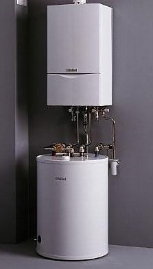 Pakiet Vaillant piec kondensacyjny ecoTEC 3-14kW zasobnik 120L pogodówka i komin